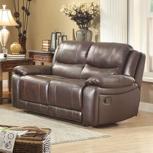 Allenwood Leather Reclining Loveseat by Homelegance