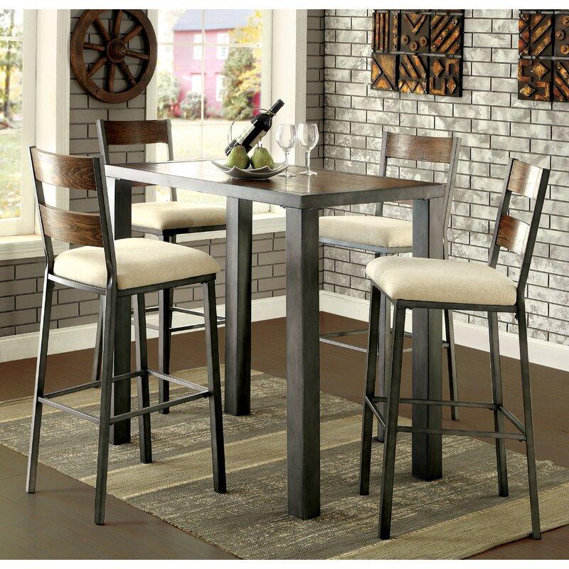 thurman 5 piece pub table set allmodern. Black Bedroom Furniture Sets. Home Design Ideas