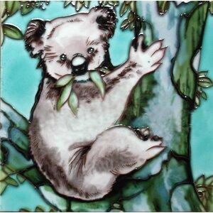 Kola Bear on A Tree Tile Wall Decor