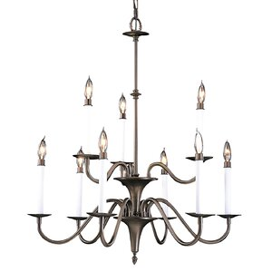 Early american chandelier wayfair early american 9 light candle style chandelier mozeypictures Image collections