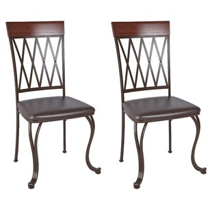 Exceptionnel Gravity Genuine Leather Upholstered Dining Chair (Set Of 2)