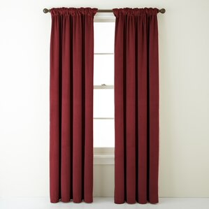 Sullivan Solid Blackout Rod Pocket Single Curtain Panel