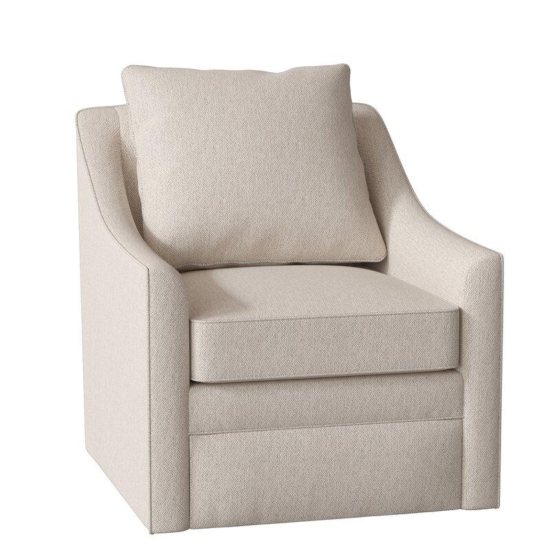Allmodern Custom Upholstery Quincy Swivel Armchair
