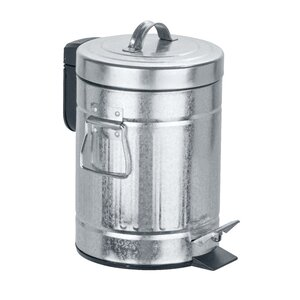 Pedal Bin Step-On Metal .79 Gallon Trash Can