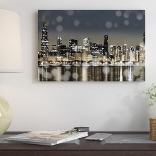 u0027Chicago Nights Iu0027 Photographic Print on Canvas & Train Wall Art Youu0027ll Love | Wayfair