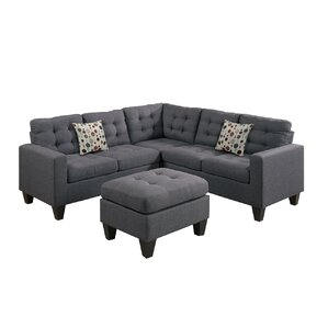 Pawnee Modular Sectional with Ottoman  sc 1 st  AllModern : firm sectional sofa - Sectionals, Sofas & Couches