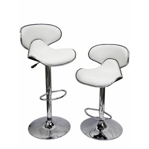 Adjustable Height Swivel Bar Stool (Set of 2) by Homessity