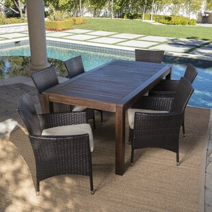 El Outdoor 7 Piece Dining Set With Cushion