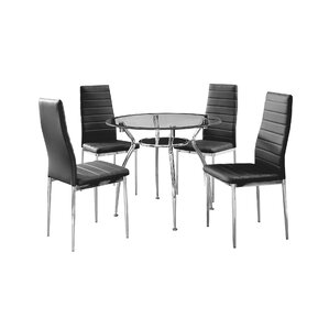 Metal Frame 5 Piece Dining Set by IDS Online Corp