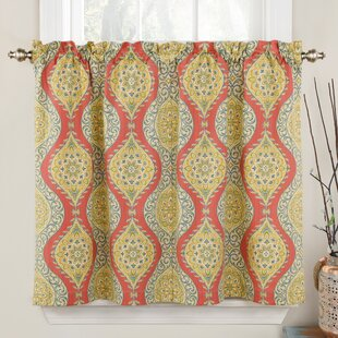 Moonlight Medallion Geometric Room Darkening Rod Pocket Curtain Panels Set Of 2