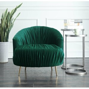 Nouvelles Ruched Accent Barrel Chair