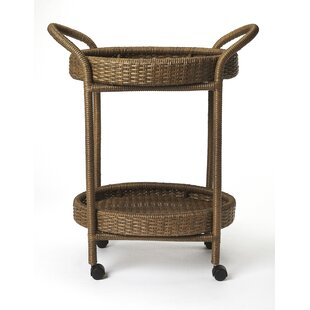 Chet Rattan Bar Cart