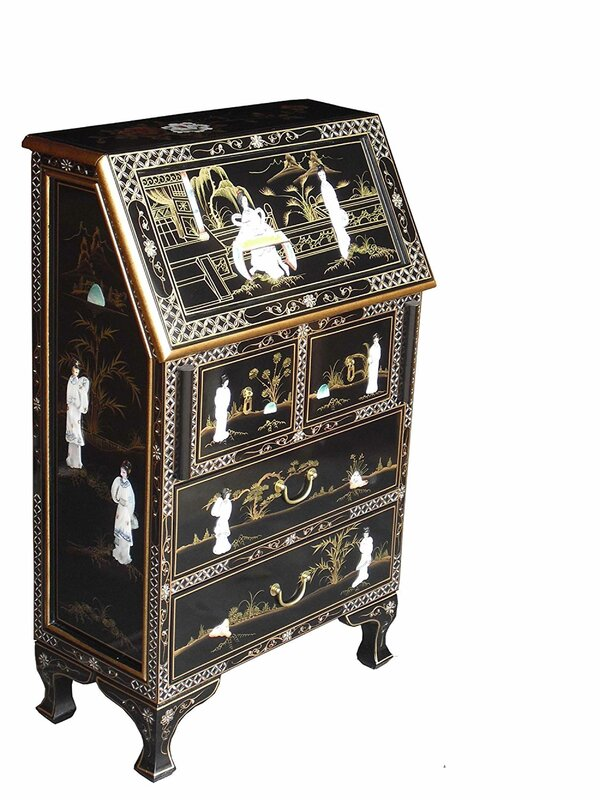 Grand international decor mother of pearl secretary desk for International decor uk