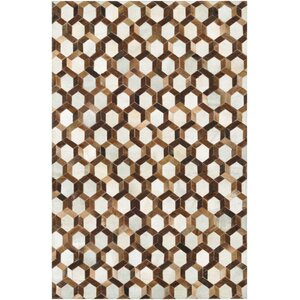 Easthampton Hand-Woven Ivory/Brown Area Rug