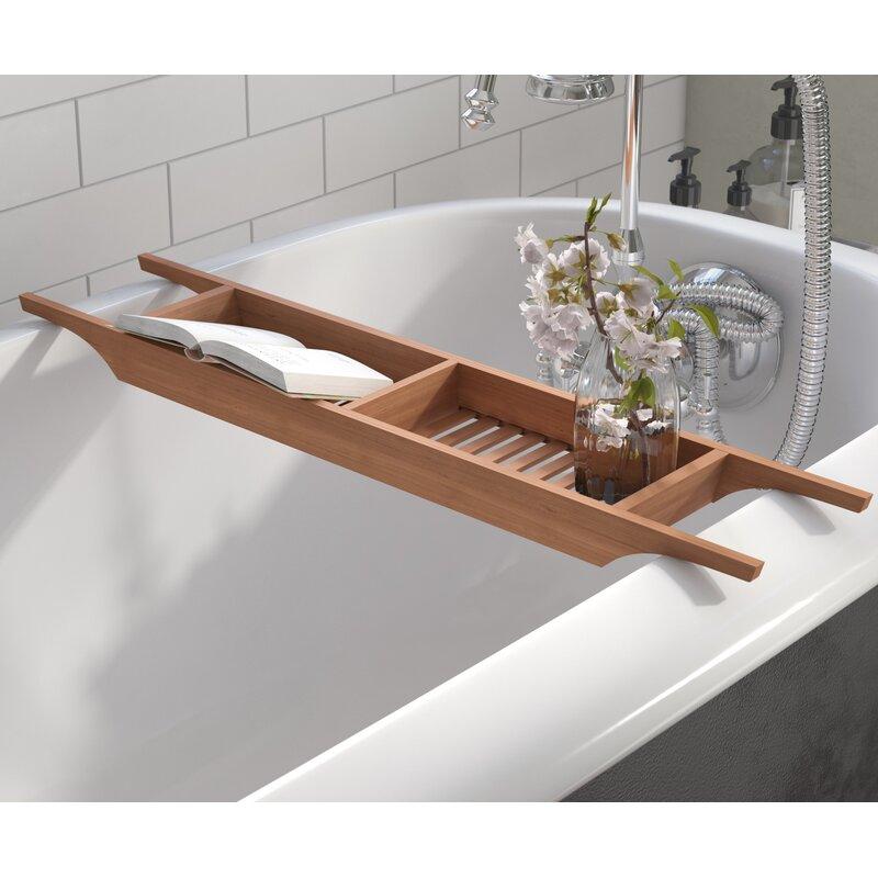 Andover Mills Raritan Wood Bath Caddy & Reviews | Wayfair