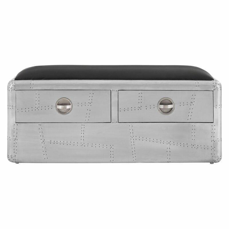 williston forge schlafzimmerbank marcellus aus metall mit. Black Bedroom Furniture Sets. Home Design Ideas