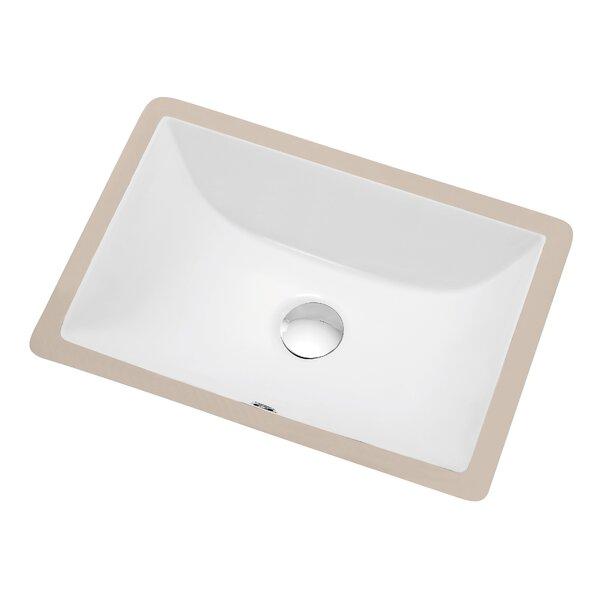 Dawn Usa Ceramic Rectangular Undermount Bathroom Sink With