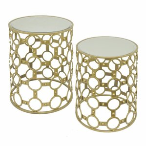 Ayana Metal 2 Piece Nesting Tables (Set of 2) by Mercer41