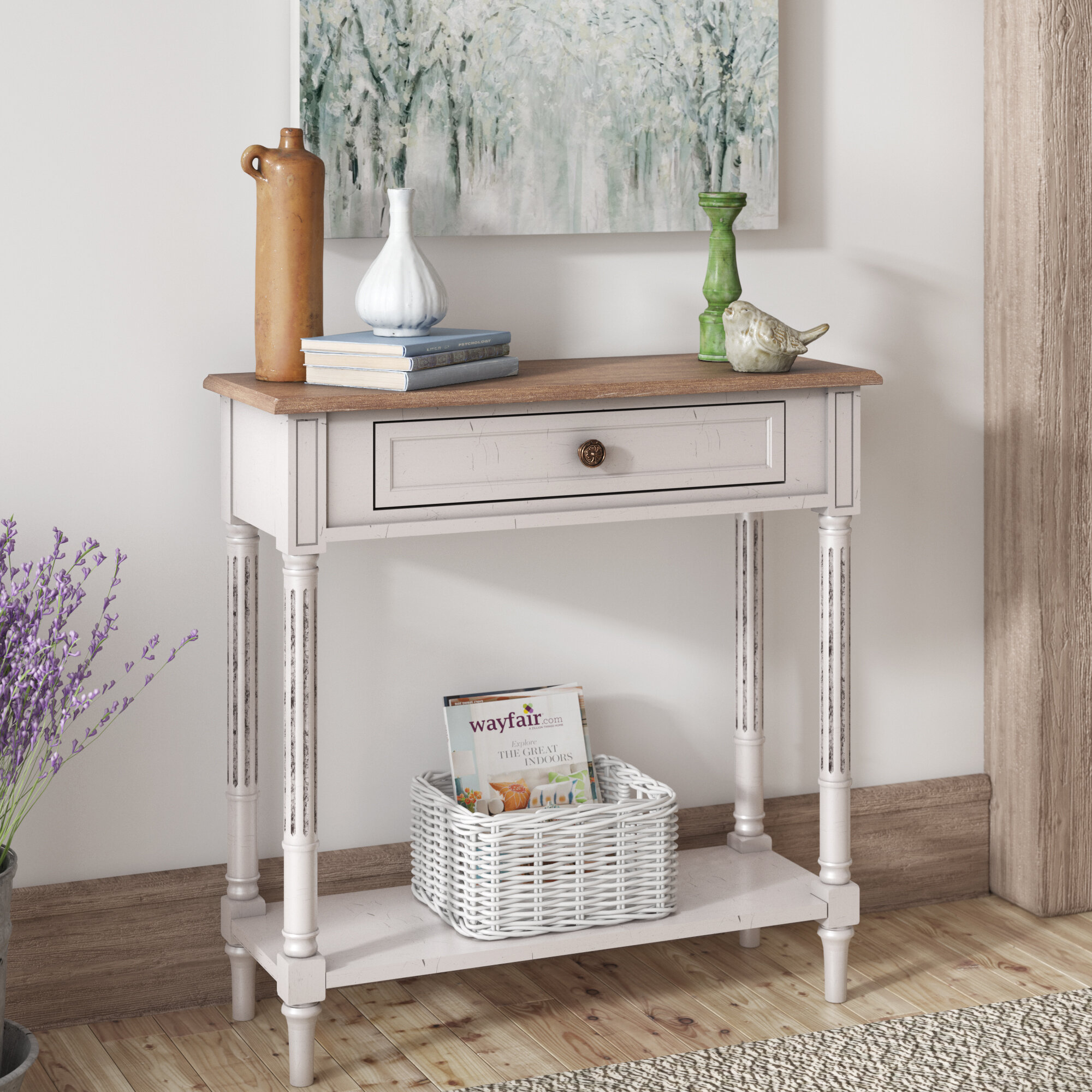 Lark Manor Sevan French Provincial Style Console Table & Reviews ...