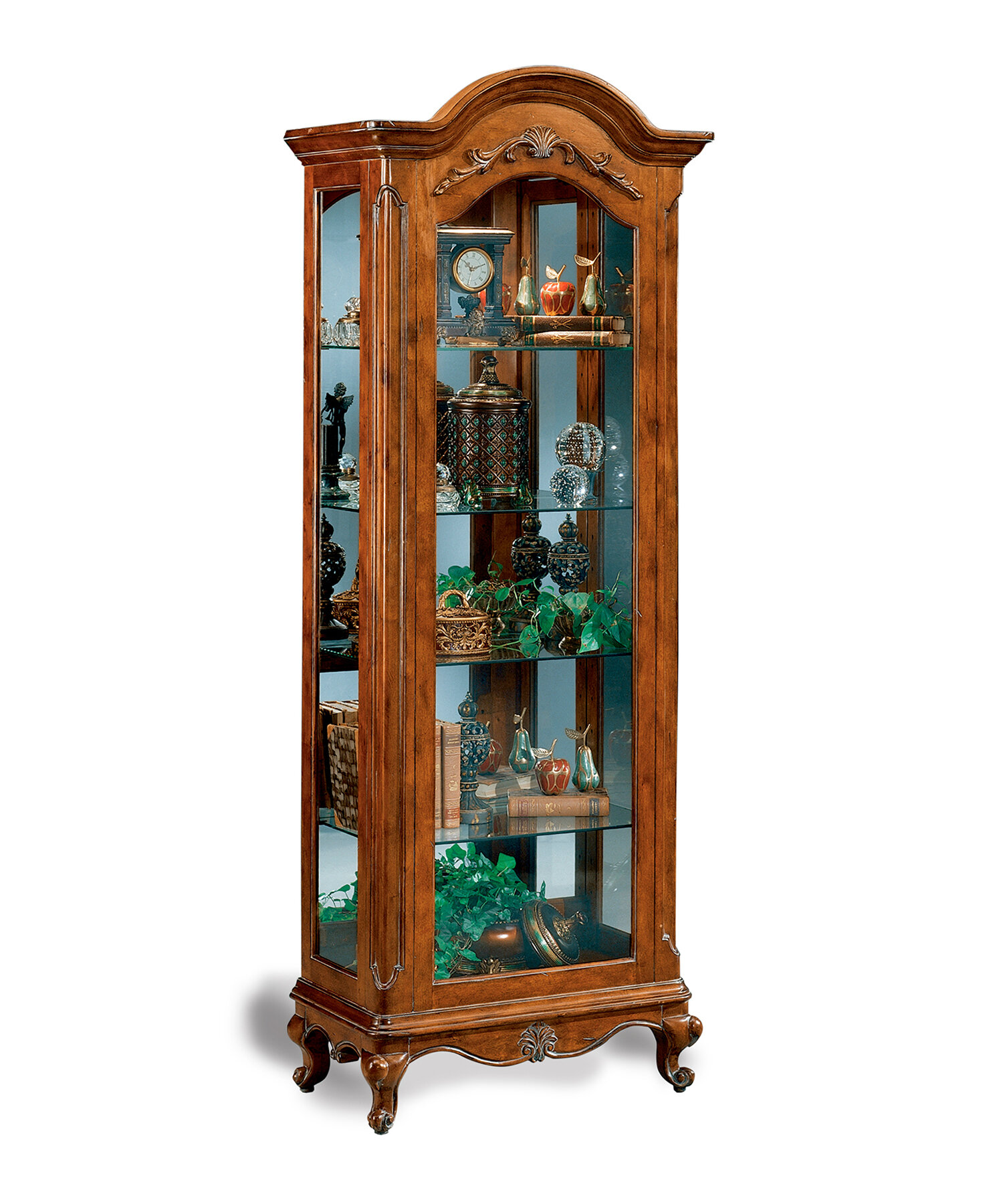 Philip Reinisch Co Charlemagne Lighted Curio Cabinet Reviews Wayfair