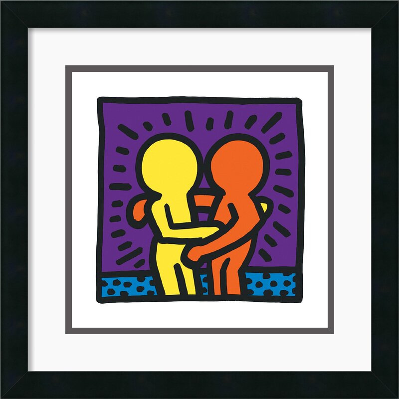 'Untitled 1987' by Keith Haring Framed Graphic Art