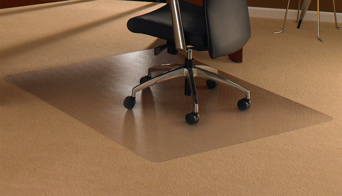 Carpet Mat For Desk Chair floortex cleartex high pile carpet straight chair mat & reviews