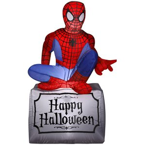 spider man airblown inflatable halloween decoration - Outdoor Inflatable Halloween Decorations