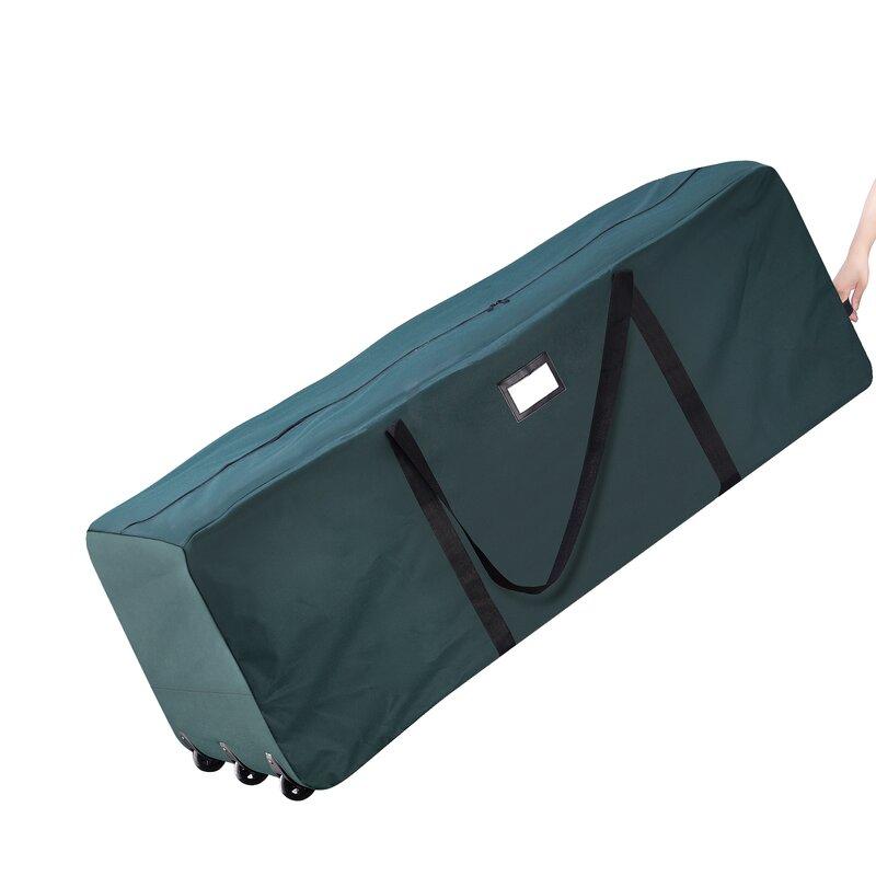 Elf Stor Premium Green Rolling Duffle Bag Christmas Tree Storage  - Storage Bag For Christmas Tree