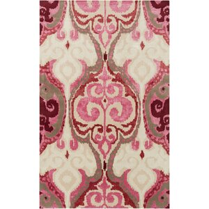 Osvaldo Hot Pink Ikat Area Rug