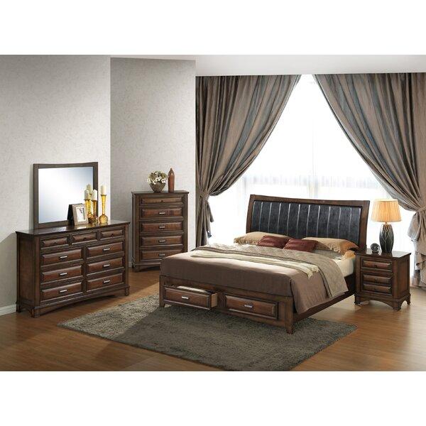 Roundhill Furniture Broval King Platform 5 Piece Bedroom Set   Wayfair