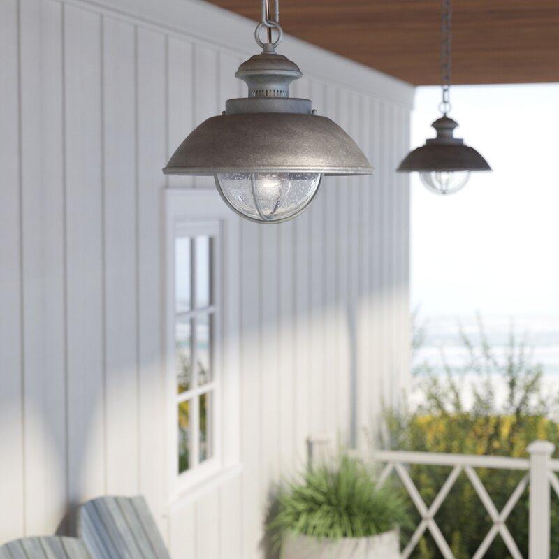 Wayfair Outdoor Hanging Lights: Beachcrest Home Archibald 1-Light Outdoor Pendant