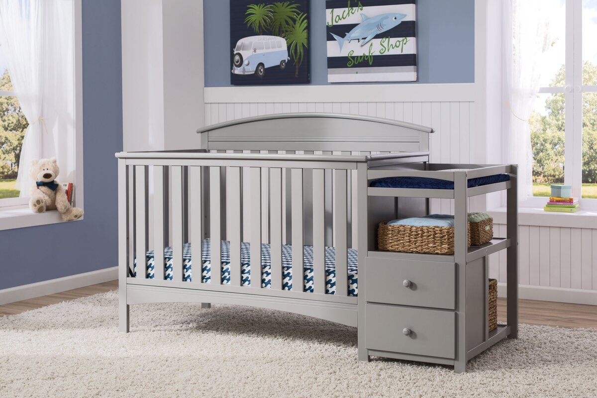 delta children abby 4 in 1 convertible crib and changer by delta