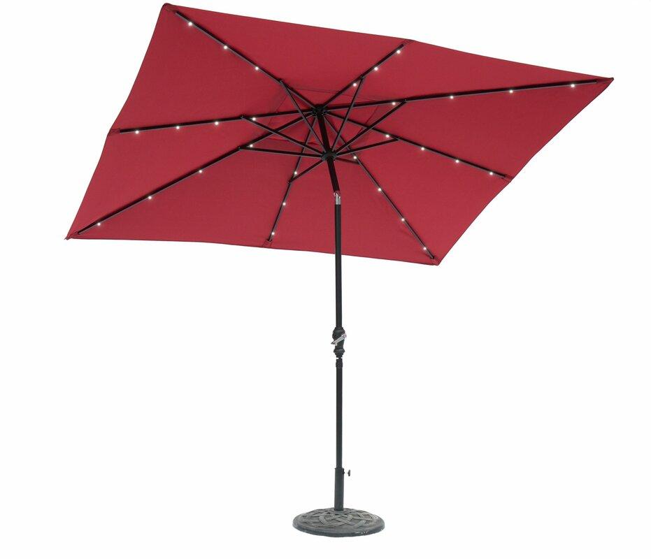 Rectangular Led Umbrella: Darby Home Co Allston 9' X 7' Rectangular Lighted Umbrella