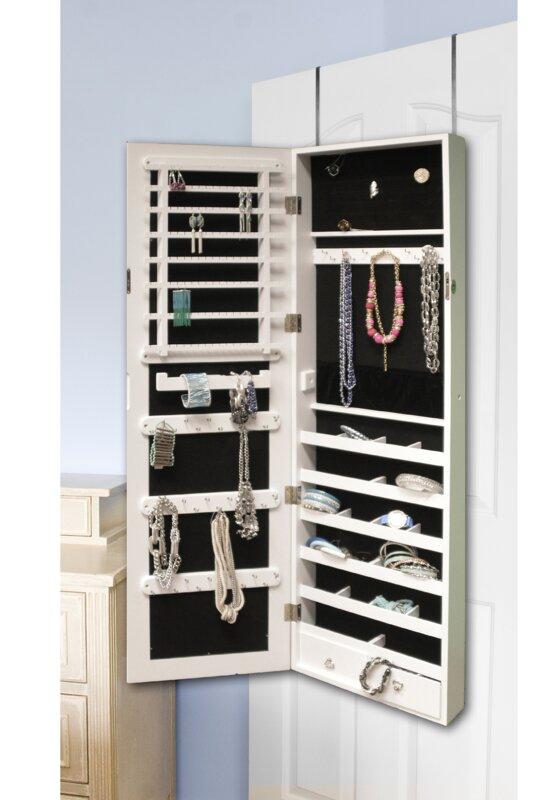 Ordinary Over The Door Jewelry Organizer Part - 3: Berger Over The Door Jewelry Armoire With Mirror