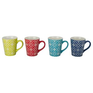 4 Piece Lindsey Fashion Mug Set (Set of 4)