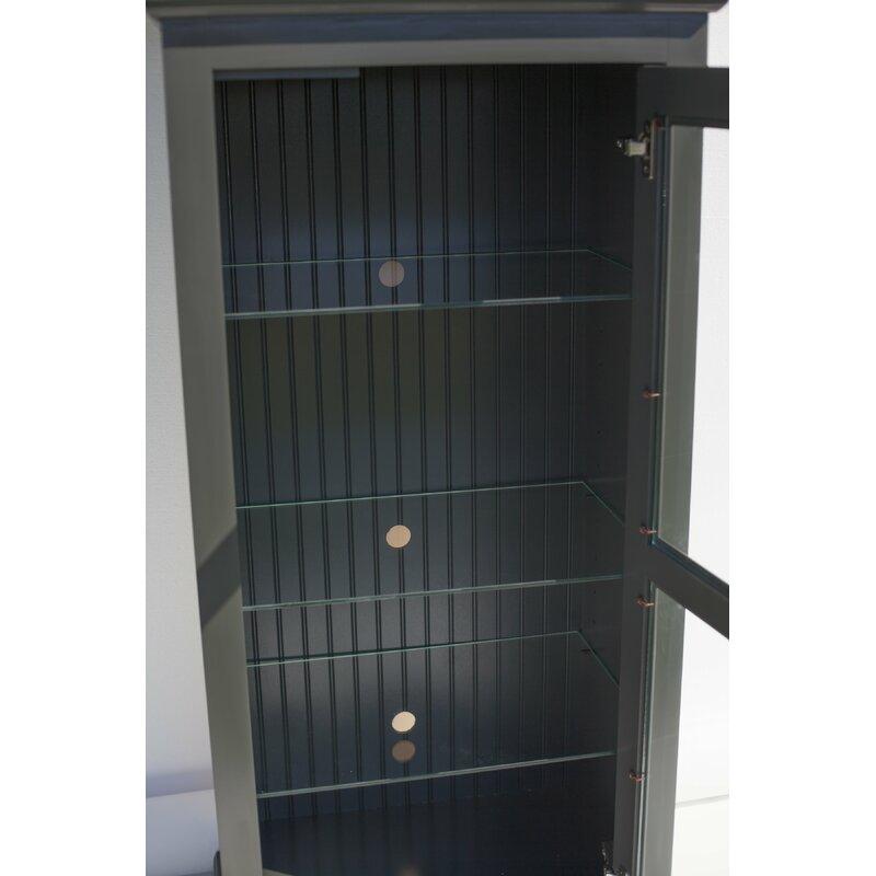 World Menagerie Glass Panel Door Audio Cabinet Wayfair