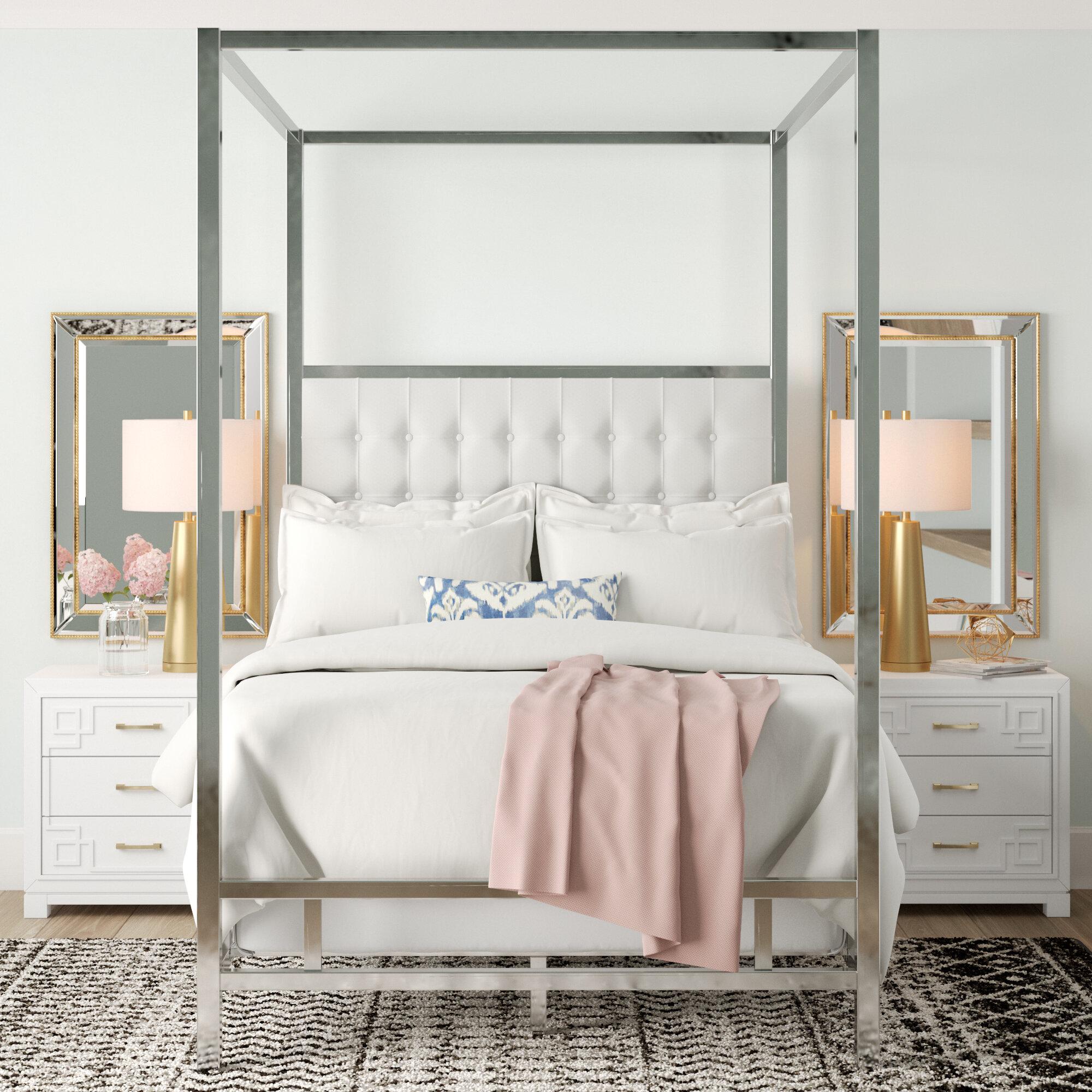- Alek Upholstered Canopy Bed & Reviews Joss & Main