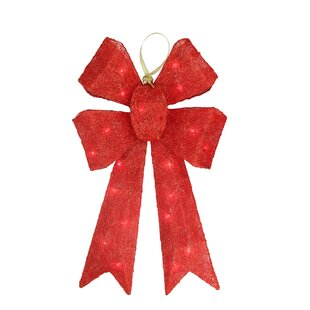sparkling whimsical sisal bow christmas decoration