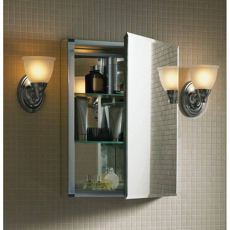 20 X 26 Recessed Or Surface Mount Aluminum Medicine Cabinet With Mirrored Door