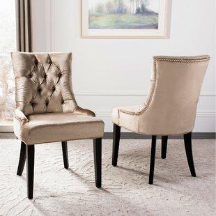 Reynesford Velvet Upholstered Dining Chair (Set of 2)