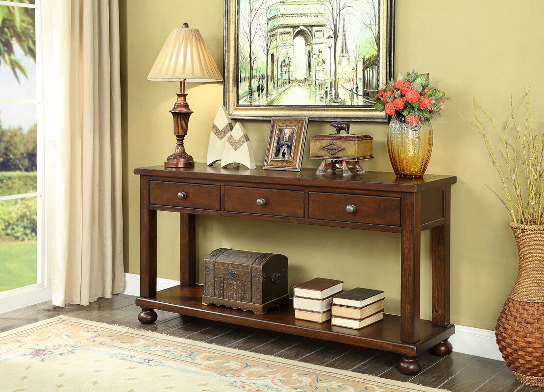 Stenya 3 Drawer Console Table