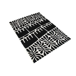 Gill Hand Woven Wool Black/White Indoor Area Rug By Bloomsbury Market