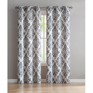 Blumenthal Geometric Semi-Sheer Grommet Curtain Panels (Set of 2)