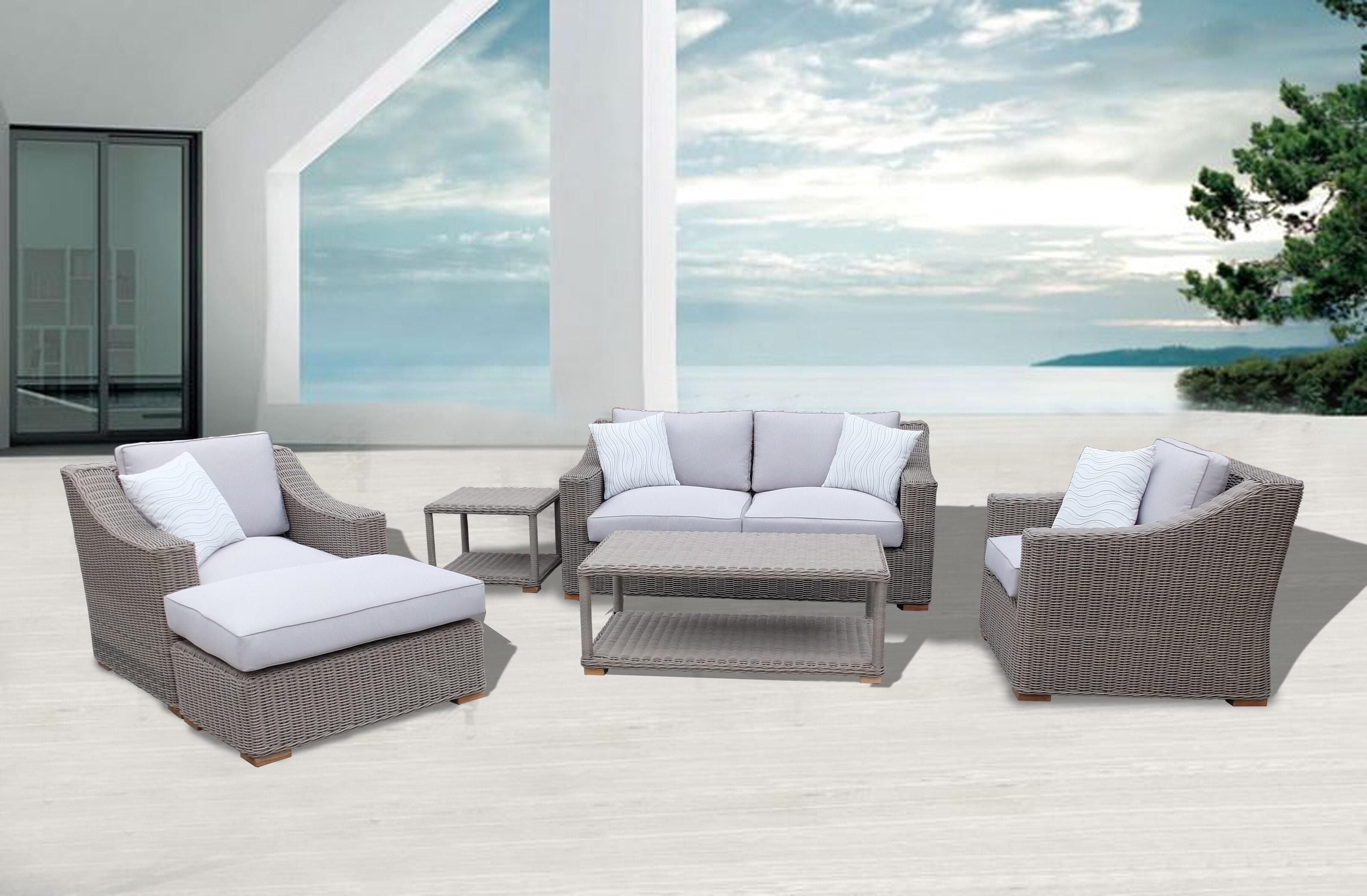 Highland Dunes Brokaw 6 Piece Sofa Set with Cushions | Wayfair