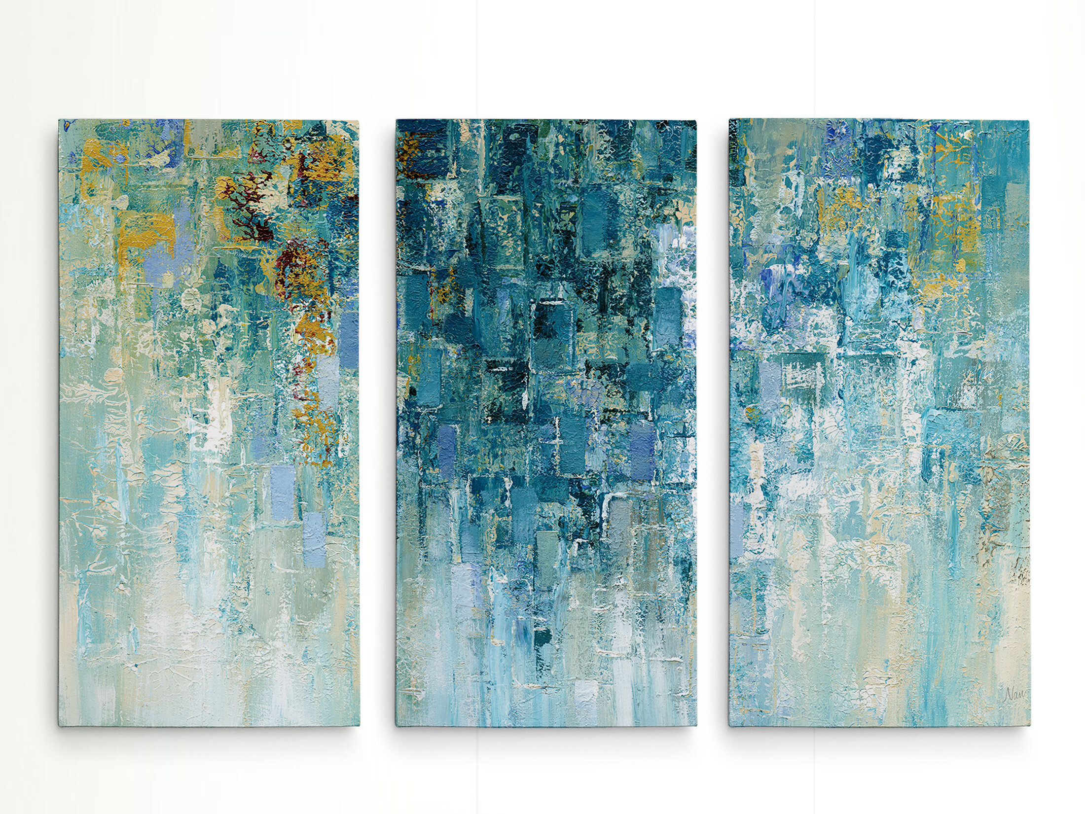 I Love The Rain Acrylic Painting Print Multi Piece Image On Gallery Wred Canvas