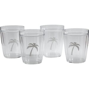 Buzice Palm Tree Everyday Tumbler (Set of 4)