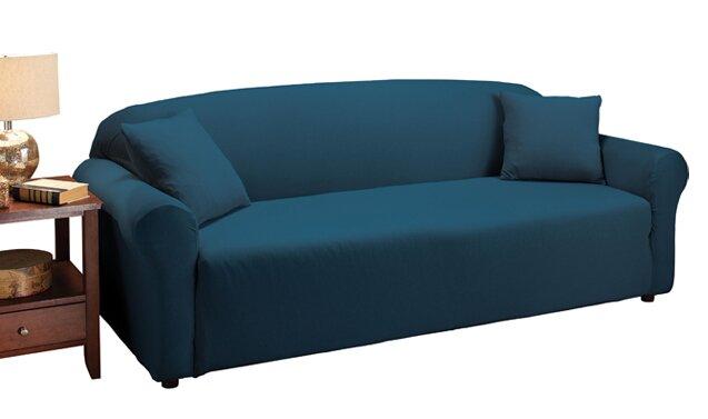 Delightful Floral Box Cushion Sofa Slipcover
