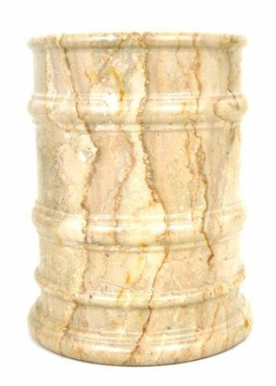 Sahara Beige Marble 4 Gallon Waste Basket