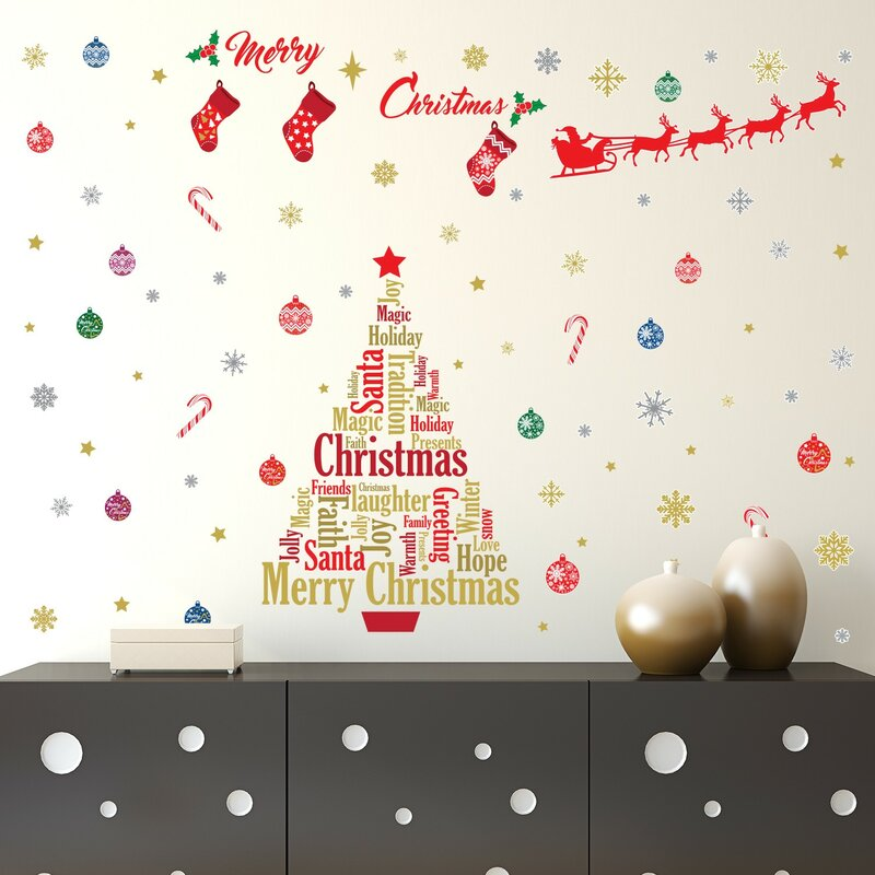 english quotes christmas decoration wall decal - Christmas Decoration Quotes