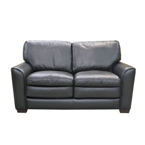 Sacramento Leather Loveseat by Coja